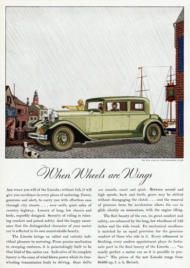 Lincoln Coupe 1931 When Wheels Are Wings | Vintage Cars 1891-1970