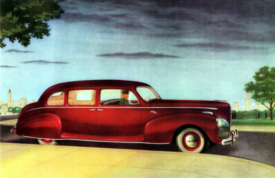Lincoln Custom Limousine 1941 Red | Vintage Cars 1891-1970