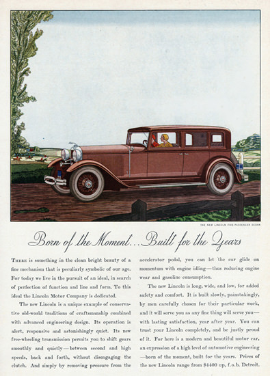 Lincoln Five P Sedan 1931 Born Of The Moment | Vintage Cars 1891-1970