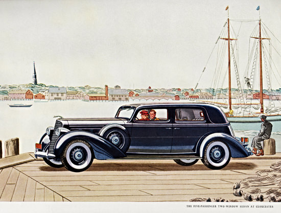 Lincoln Five P Sedan 1936 At Gloucester | Vintage Cars 1891-1970