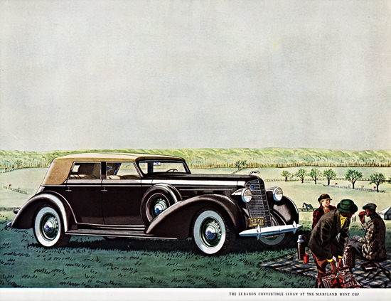 Lincoln LeBaron Convertible 1936 Maryland Hunt Cup | Vintage Cars 1891-1970