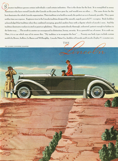 Lincoln LeBaron Convertible Roadster 1937 | Vintage Cars 1891-1970