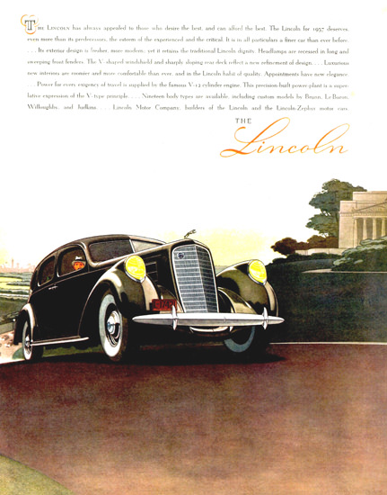 Lincoln Model K Sedan 1937   Vintage Cars 1891-1970