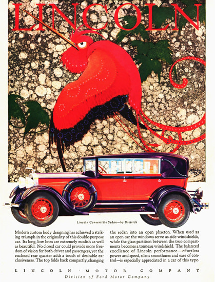 Lincoln Motor Company 1928 Convertible Dietrich | Vintage Cars 1891-1970