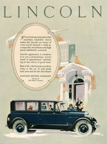 Lincoln Motor Company Automobile Blue | Vintage Cars 1891-1970