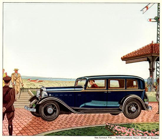 Lincoln Motor Company V8 7 Passenger 1932   Vintage Cars 1891-1970