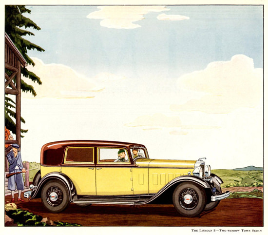 Lincoln Motor V8 Two Window Town Sedan 1932 | Vintage Cars 1891-1970