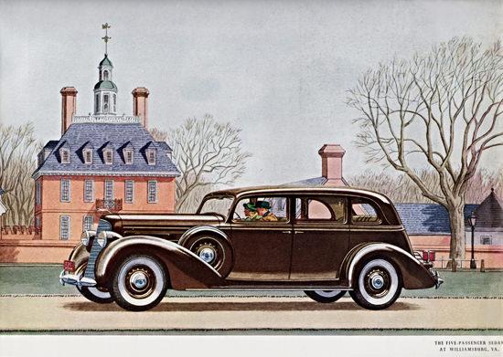 Lincoln Sedan 1936 At Williamsburg Virginia | Vintage Cars 1891-1970
