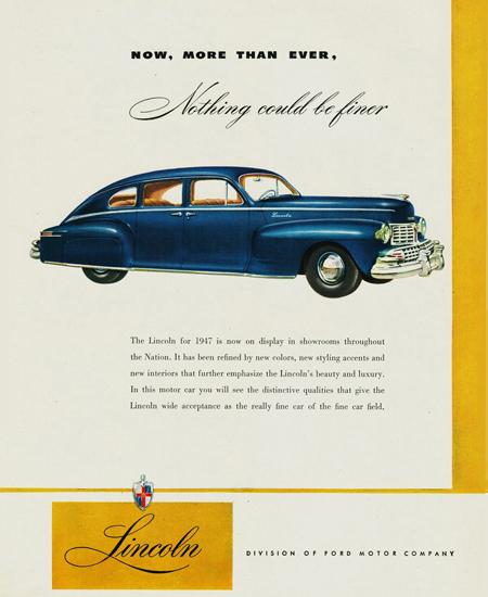 Lincoln Sedan 1947 | Vintage Cars 1891-1970