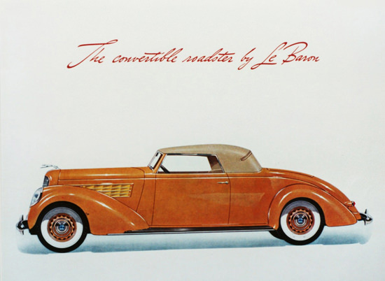 Lincoln Series K Conv Roadster LeBaron 1938 | Vintage Cars 1891-1970