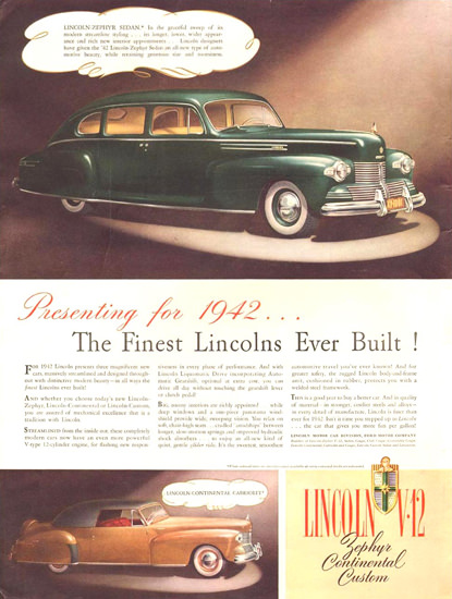 Lincoln V-12 Zephyr Continental Custom 1941 | Vintage Cars 1891-1970