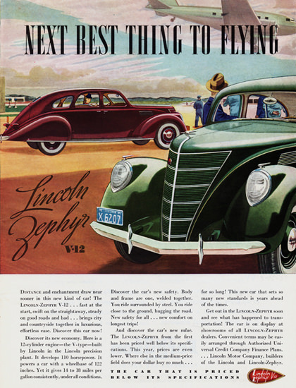 Lincoln Zephyr 1937 Next Best Thing To Flying | Vintage Cars 1891-1970