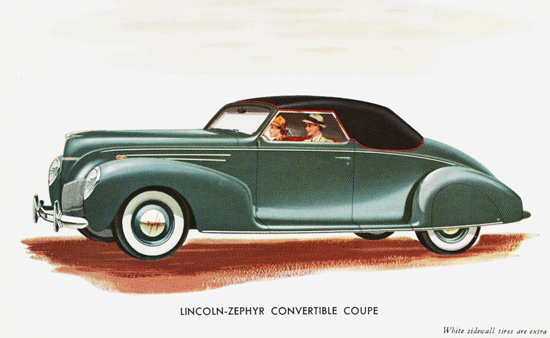Lincoln Zephyr Convertible Coupe 1939 | Vintage Cars 1891-1970