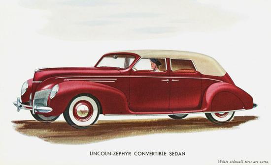 Lincoln Zephyr Convertible Sedan 2 1939 | Vintage Cars 1891-1970