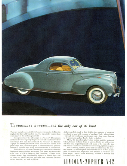 Lincoln Zephyr Coupe 1938 Only Car Of Its Kind | Vintage Cars 1891-1970