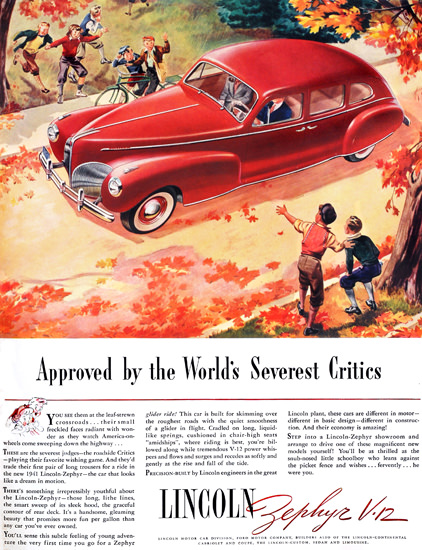 Lincoln Zephyr V12 Approved Fall Boys Red | Vintage Cars 1891-1970
