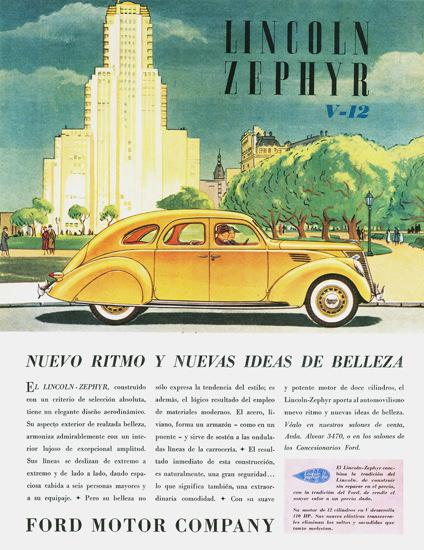 Lincoln Zephyr V12 Argentina 1936 | Vintage Cars 1891-1970
