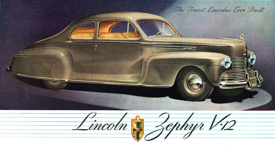 Lincoln Zephyr V12 Club Coupe 1942 | Vintage Cars 1891-1970