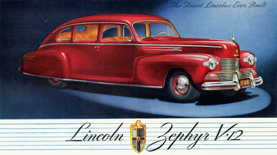 Lincoln Zephyr V12 Sedan 1942 | Vintage Cars 1891-1970
