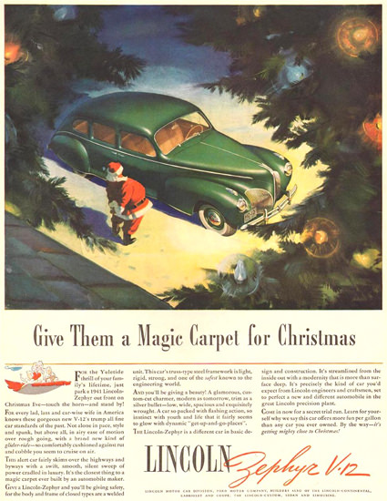 LincolnV-12 Zephyr Christmas 1940 | Vintage Cars 1891-1970