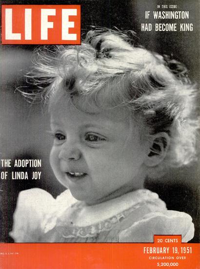 Linda Joy The Adoption 19 Feb 1951 Copyright Life Magazine | Life Magazine BW Photo Covers 1936-1970