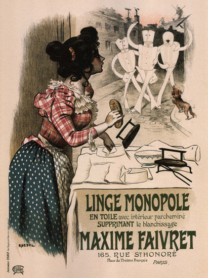 Linge Monopole Maxime Faivret France Laundry | Vintage Ad and Cover Art 1891-1970