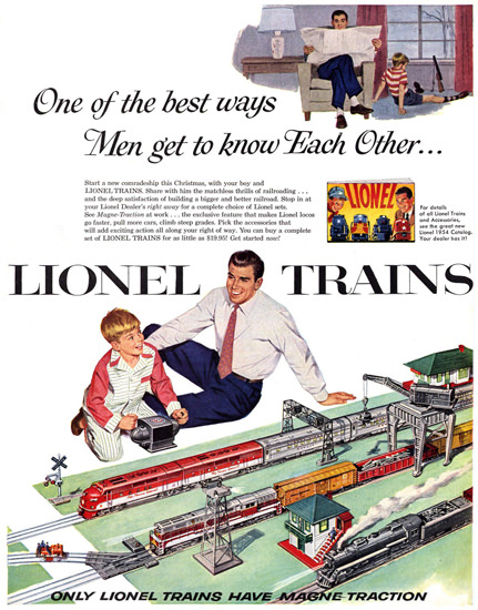Lionel Trains 1954 | Vintage Ad and Cover Art 1891-1970