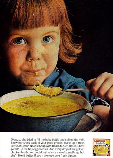 Lipton Noodle Soup Grace | Vintage Ad and Cover Art 1891-1970