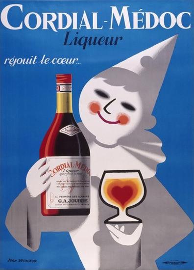 Liqueur Cordial-Medoc Gajourde Rejouit Le Coeur   Vintage Ad and Cover Art 1891-1970
