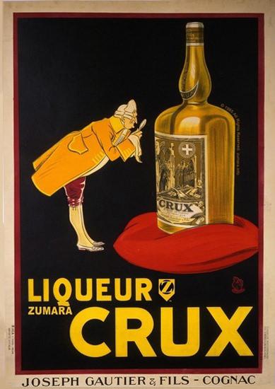 Liqueur Crux Joseph Gautier Fils Cognac | Vintage Ad and Cover Art 1891-1970