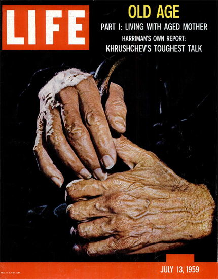 Living with aged Mother 13 Jul 1959 Copyright Life Magazine | Life Magazine Color Photo Covers 1937-1970
