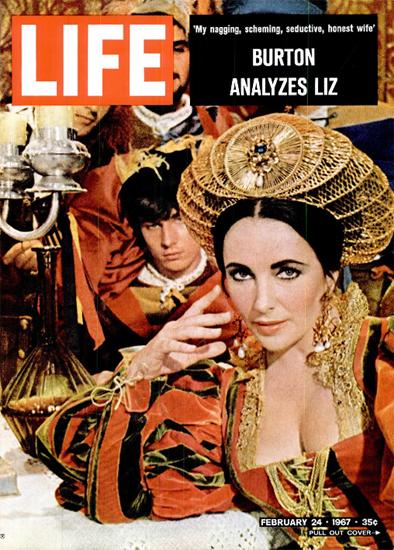 Liz Taylor analyzed by Burton 24 Feb 1967 Copyright Life Magazine | Life Magazine Color Photo Covers 1937-1970