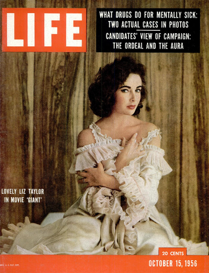 Liz Taylor in Movie Giant 15 Oct 1956 Copyright Life Magazine | Life Magazine Color Photo Covers 1937-1970