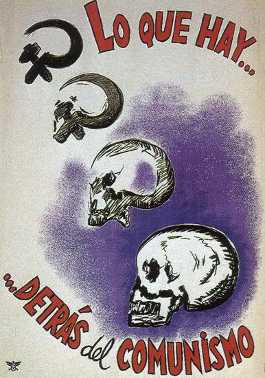 Lo Que Hay Detras Del Comunismo Spain Espana | Vintage War Propaganda Posters 1891-1970