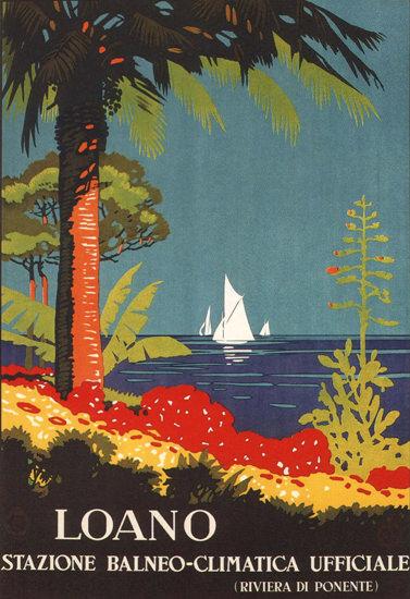Loano Statione Balneo-Climatica Riviera Spa Italia | Vintage Travel Posters 1891-1970