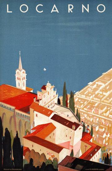 Locarno Switzerland 1944 | Vintage Travel Posters 1891-1970