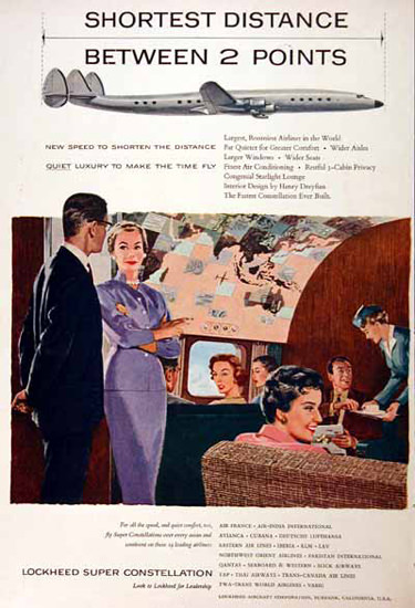 Lockheed Constellation 1955 Super Constellation | Vintage Travel Posters 1891-1970