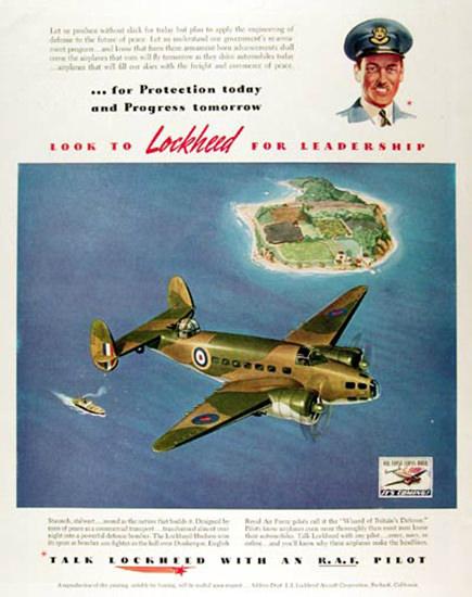 Lockheed Hudson RAF Pilot 1941 Aircraft | Vintage War Propaganda Posters 1891-1970