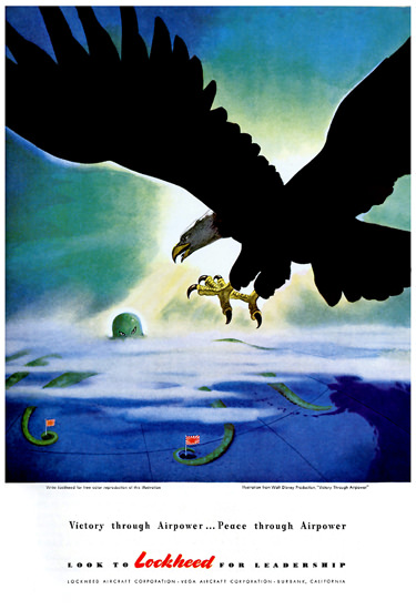 Lockheed Victory Through Airpower | Vintage War Propaganda Posters 1891-1970