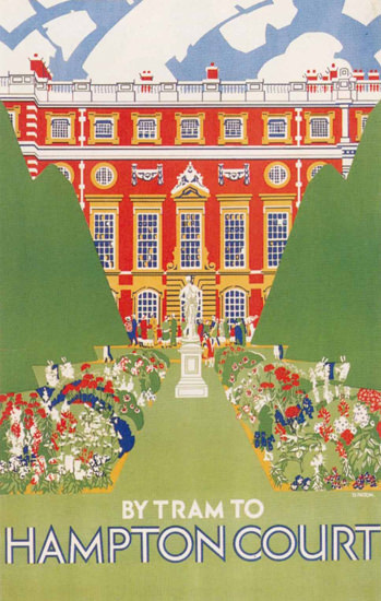 London By Tram To Hampton Court | Vintage Travel Posters 1891-1970