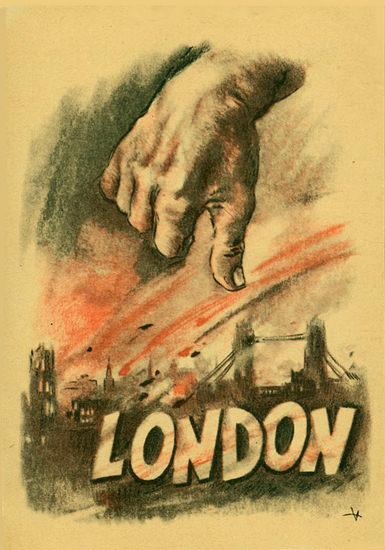 London Down   Vintage War Propaganda Posters 1891-1970