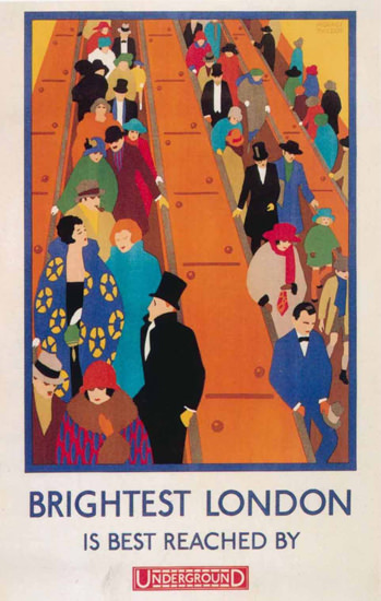 London Underground Brightest London | Vintage Travel Posters 1891-1970