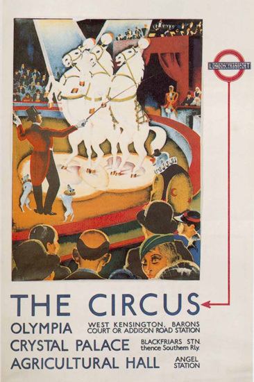 London Underground Circus Olympia | Vintage Travel Posters 1891-1970