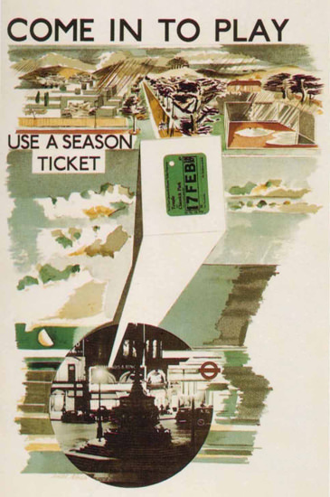 London Underground Come In To Play Ticket | Vintage Travel Posters 1891-1970
