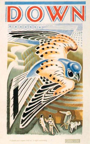 London Underground Down Green Line Hawk   Vintage Travel Posters 1891-1970