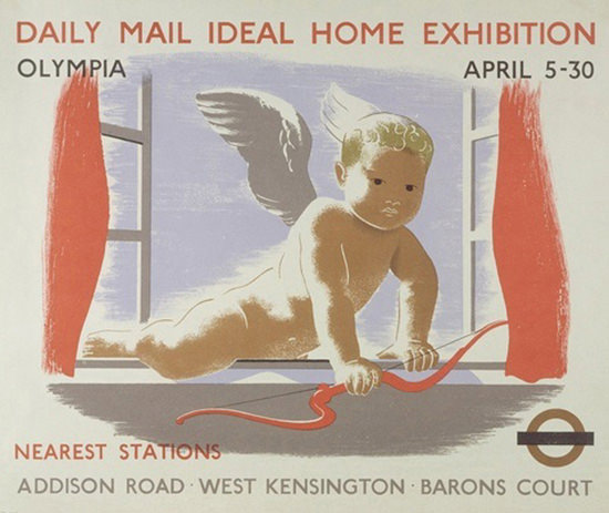 London Underground Olympia Ideal Home Exhibit | Vintage Travel Posters 1891-1970