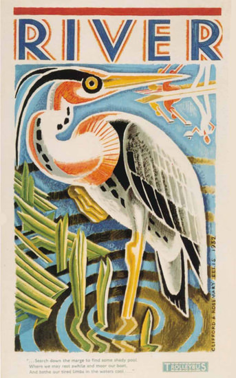 London Underground River Heron | Vintage Travel Posters 1891-1970