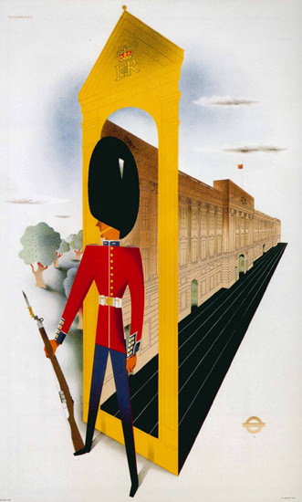 London Underground Royal Palace Guard | Vintage Travel Posters 1891-1970
