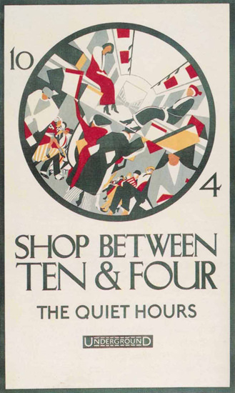 London Underground Shop Between Ten N Four | Vintage Travel Posters 1891-1970