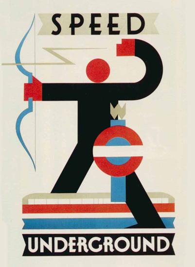 London Underground Speed | Vintage Travel Posters 1891-1970